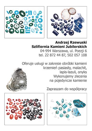 Szlifiernia kamieni Andrzej Rzewuski
